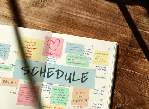 Plan an active study schedule